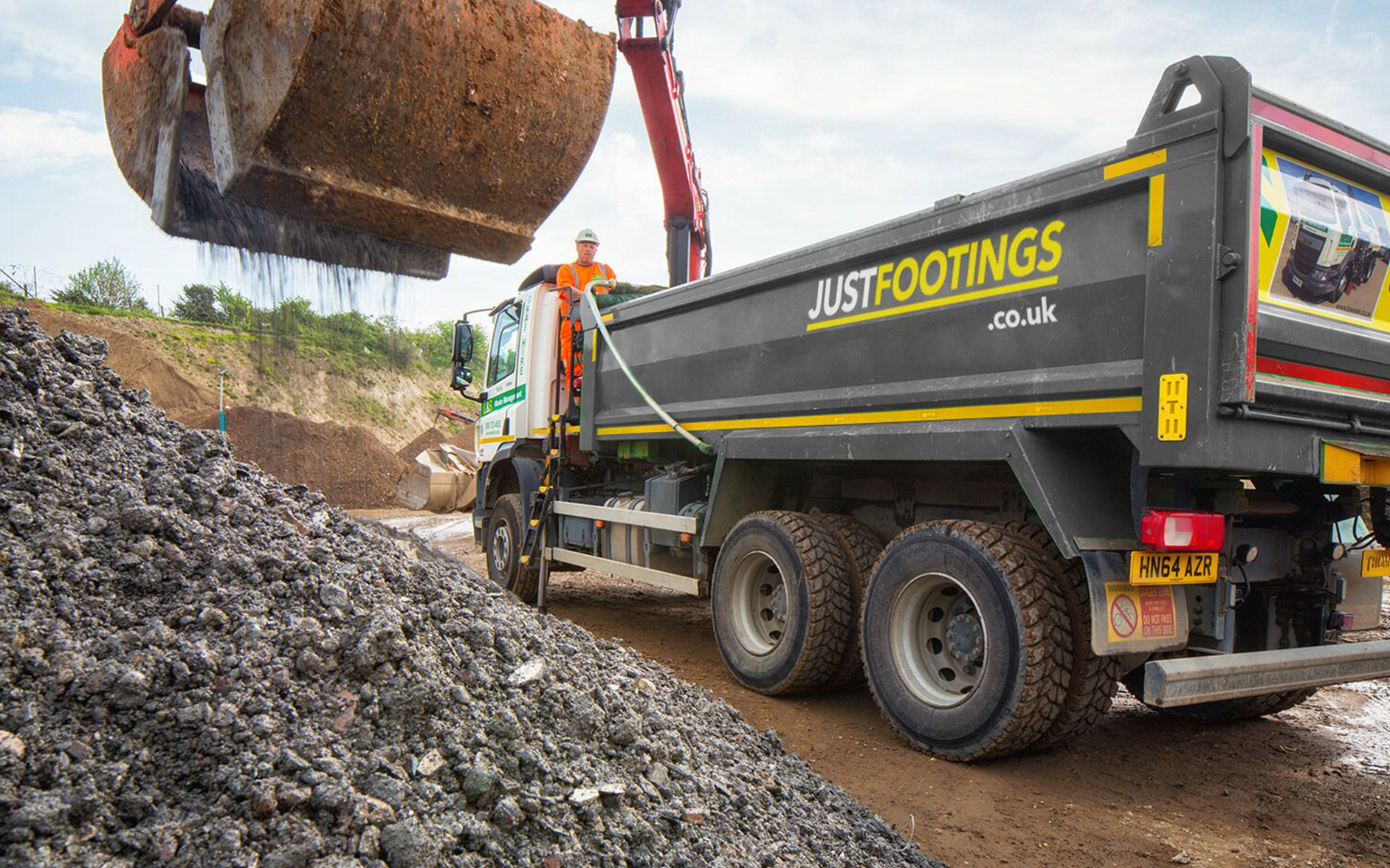 Just Footings - Groundworks site clearance waste management - Portsmouth Southampton Hampshire Fareham